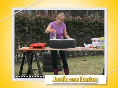 Jardin Con Llantas Recicladas Youtube