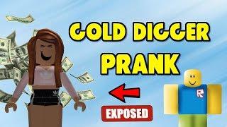 ROBLOX | GOLD DIGGER PRANK #11 | Roblox Social Experiment 🔥
