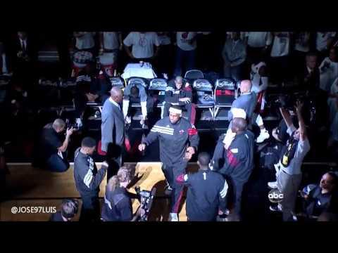 Miami Heat Intro NBA FINALS 2012 Game 4 vs Oklahoma City Thunder