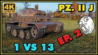 World of Tanks | Pz.Kpfw. II Ausf. J - 13 Kills - 1,4K Damage - 1 VS 13 Gameplay