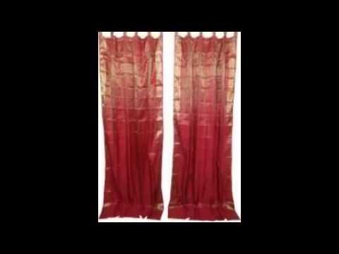 Vintage Silk Sari Curtains   YouTube