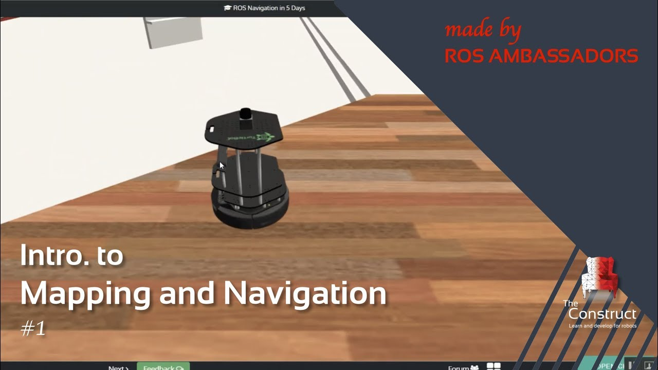 [ROS Tutorials] Introduction to Gmapping and Navigation #1