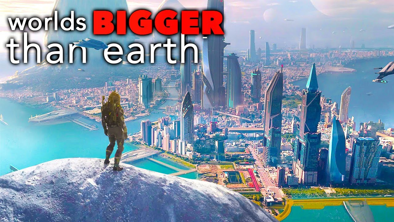 5 Game Worlds BIGGER Than Planet Earth