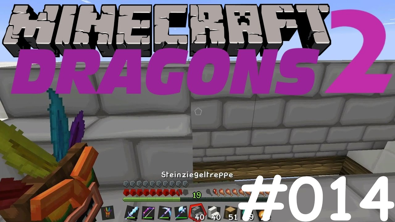 Let 39 s play minecraft dragons 2 014 deutsch hd pc - Minecraft dach bauen ...