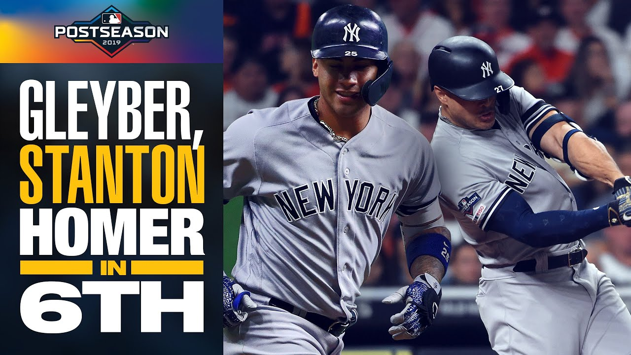 Yankees' Gleyber Torres + Giancarlo Stanton LAUNCH 6th inning HRs in ALCS Game 1 | MLB Highligh