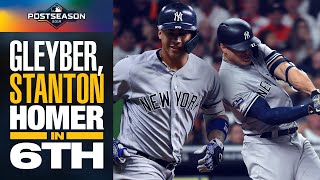 Yankees' Gleyber Torres + Giancarlo Stanton LAUNCH 6th inning HRs in ALCS Game 1 | MLB Highlights