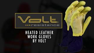 Leather Heated Work Gloves by Volt