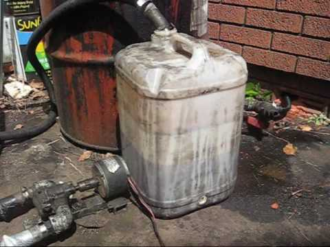 How To Pump Waste Vegetable Oil Youtube