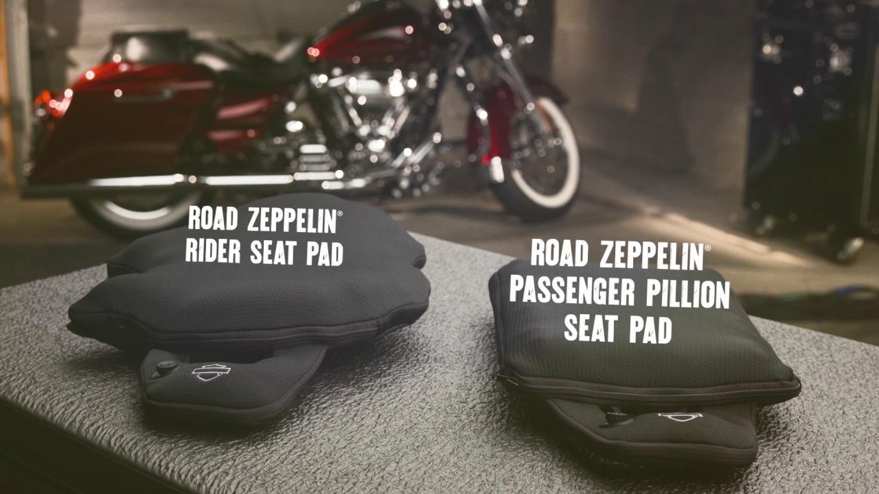 Road Zeppelin Seat Pads Harley Davidson Youtube