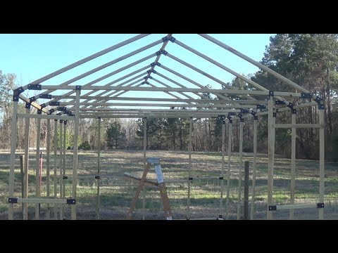 building my own greenhouse using the ez frames kit part 3