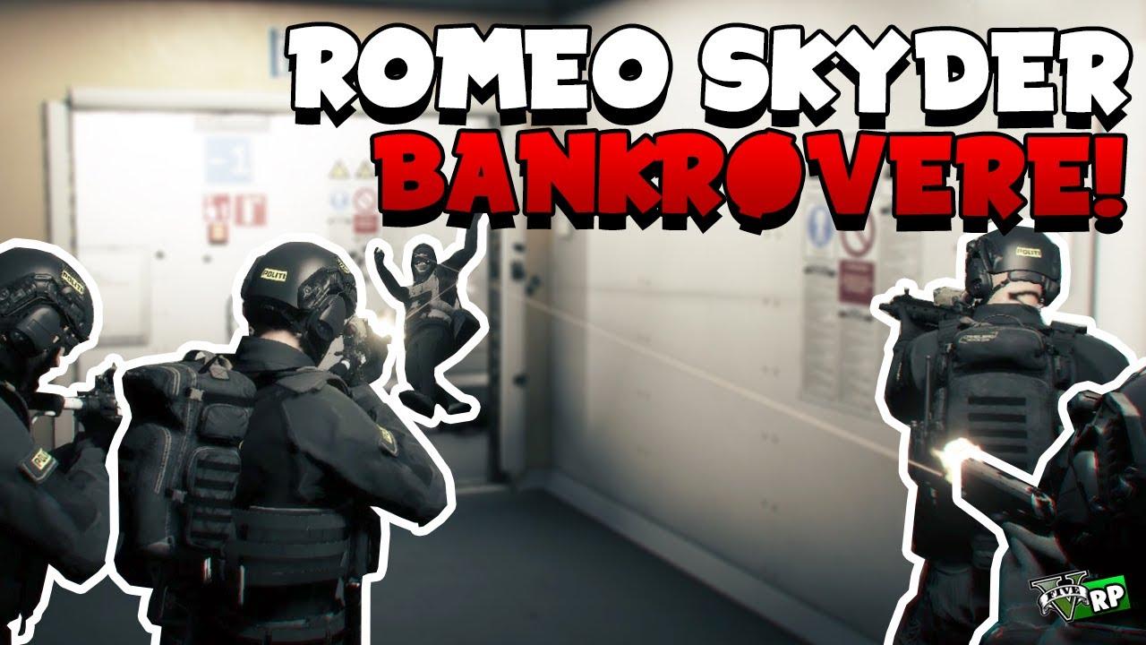 ROMEO SKYDER BANKRØVERE! | GTA 5 RP