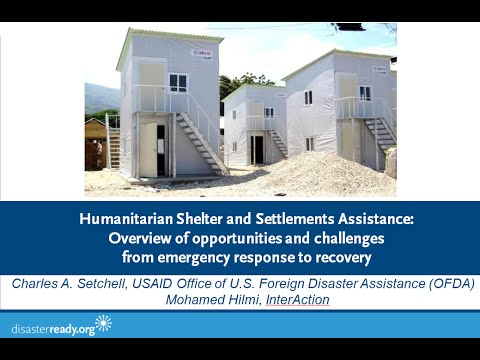 Webinar: Humanitarian Shelter and Settlements Assistance