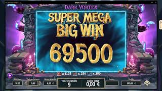 RECORD WIN ON DARK VORTEX - Won by Hornyx from aboutslots.com community - (Online Casino big win)