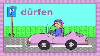 """Deutsches Modalverb """"dürfen"""" - Verboten oder erlaubt? German for children and beginners thumbnail"""