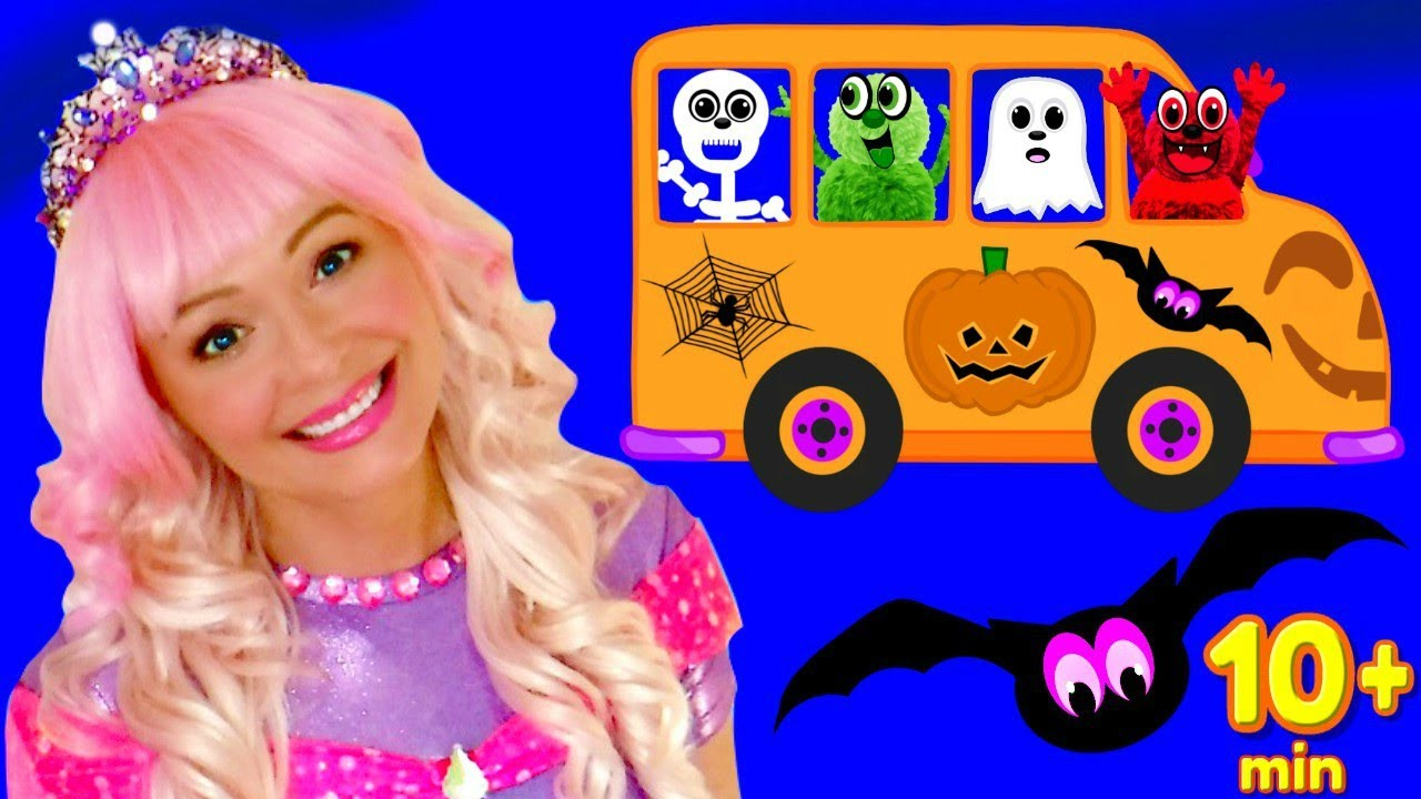 Halloween Songs for Kids, Children and Toddlers - The Spooky Wheels on the Bus and More!