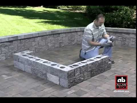 How to Build a Square Fire Pit - YouTube