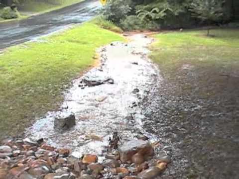 Quot Dry Quot Creek Bed In Heavy Rain Youtube