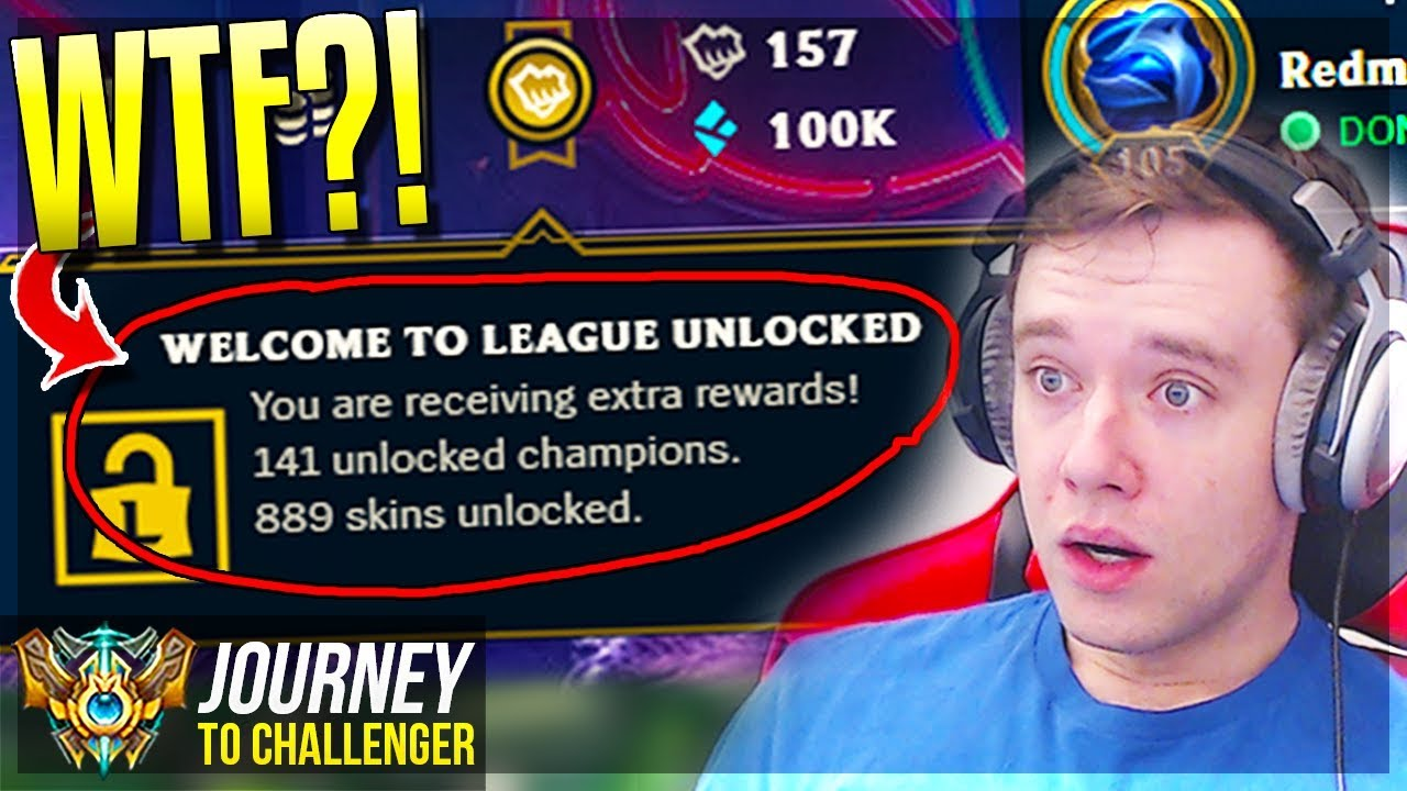 WTF IS THIS NEW FEATURE?? ALL SKINS & CHAMPS UNLOCKED?! - Journey To  Challenger | League of Legends