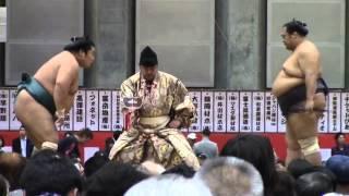 大相撲山梨富士山巡業での「豊ノ島vs誉富士」
