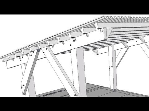 Plan d 39 abri voiture youtube - Plan d un carport adosse ...