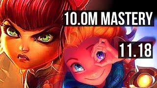 ANNIE vs ZOE (MID) | 10.0M mastery, 8/0/9, 1500+ games, Rank 9 Annie | NA Grandmaster | v11.18