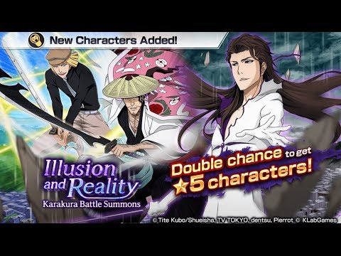 Bleach Brave Souls: Summons Illusion and Reality!!! Aizen, Shinji ou Shunsui!? - Omega Play