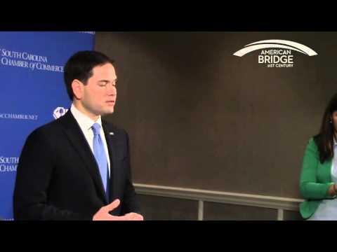 Marco Rubio on Ted Cruz Immigration Stance Hilton Head, SC 11-12-2015