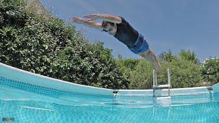 Plongeon dans ma piscine Intex Ultra Frame
