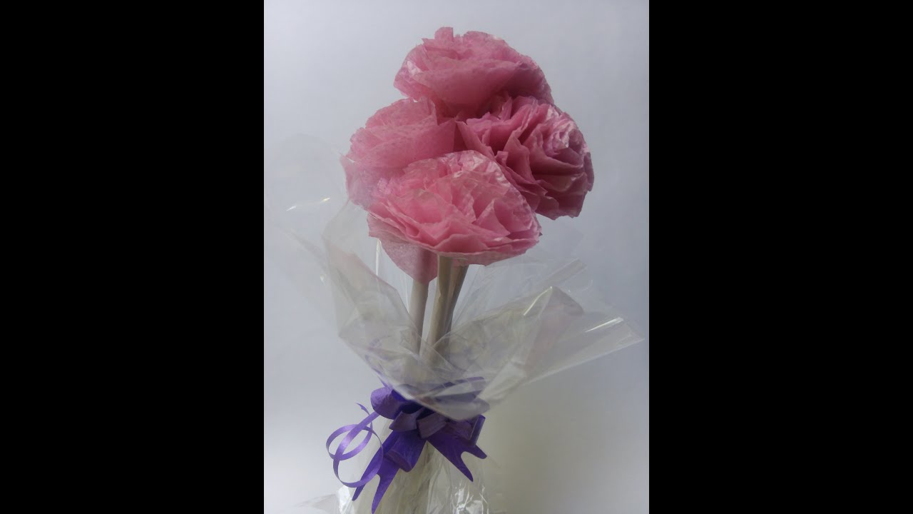 Tissue paper flower bouquet tutorial step by step youtube tissue paper flower bouquet tutorial step by step mightylinksfo Gallery