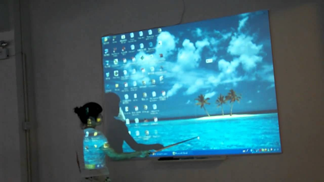 Interactive Projector Makes Touchscreen With Any Interface