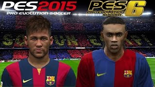 NEYMAR vs RONALDINHO ● PES 2015 e PES 6 ● BARCELONA vs REAL MADRID