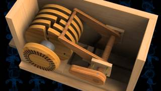 Safe Lock Mechanism Wooden Toy 3D Model