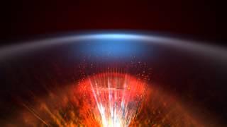 4K Blue Space horizon Red Light Scene Animation Background