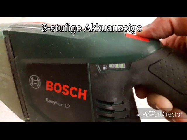 Test des Bosch Easy Vac 12 mit 12V 2.5Ah Akku