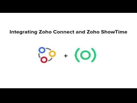Integrating Zoho Connect And Zoho ShowTime