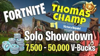 Fortnite Solo Showdown - How I Almost Won 7,500 - 50,000 V-Bucks | Strategy & Gameplay