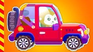 Чиним машинки в автомастерской мультики. . Мультик про красную детскую машину на ремонте.