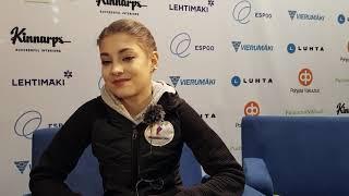 Алёна Косторная Finlandia Trophy Интервью