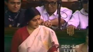 Sushma Swaraj on Confidence Motion of I.K.Gujral _ 22.04 Part 2