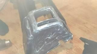 перетяжка панели первый раз каучуковым материалом