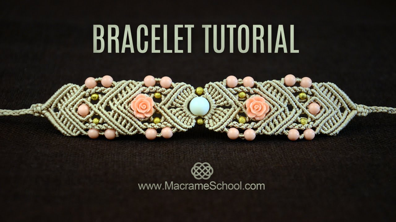 Mirrored Macram 233 Bracelet Tutorial By Macrame School Youtube