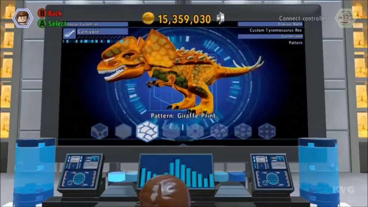 Lego jurassic world customize create dinosaur hd youtube - Jeux lego dino ...