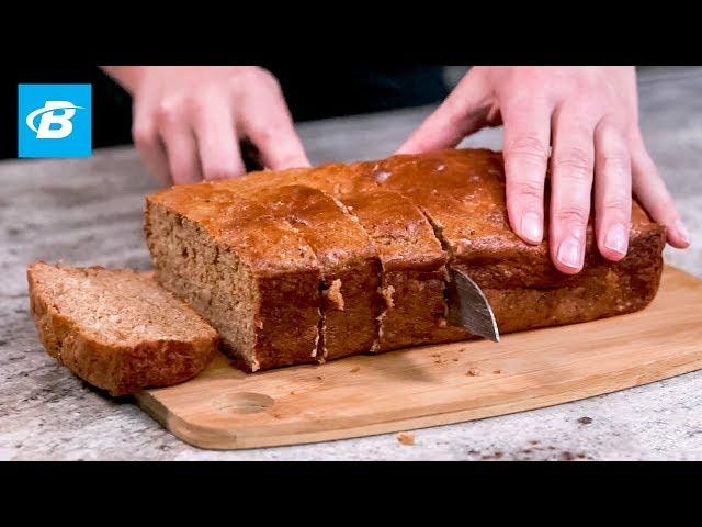 Peanut Butter Banana Protein Bread   Quick Recipe [YouTube 動画] クリックで動画がスタンバイされ、もう1回クリックすると再生します