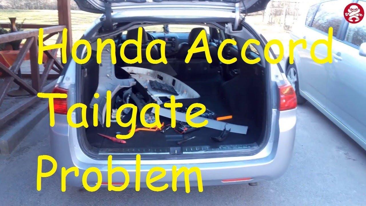 Honda Accord Tailgate Problem Won T Open Trunk Fault