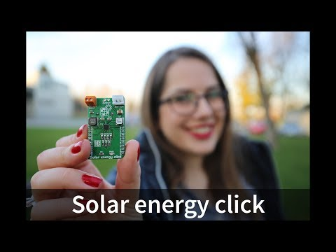 Solar energy click - features nano-power high-efficiency boost charger and buck converter device