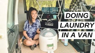VAN LIFE: Doing Laundry Inside My Van | Yirego Drumi Test