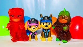 Щенячий патруль КИНДЕР СЮРПРИЗЫ Игрушки Герои в масках Развивающие мультики для детей Учим цвета