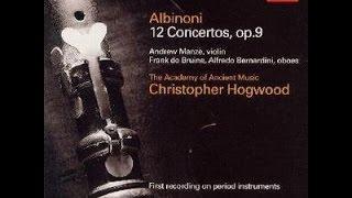 **♪アルビノーニ:ヴァイオリン協奏曲変ロ長調op.9-1  / アンドルー・マンゼ(vn),クリストファー・ホグウッド指揮エンシェント室内管弦楽団