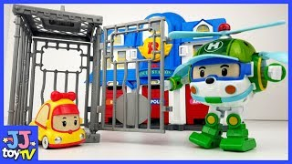 Mini Was Put In Jail. Robocar Poli  Rescue! Amber Roy Helly Toy&Play For Childlen [Jjtoy Tv]