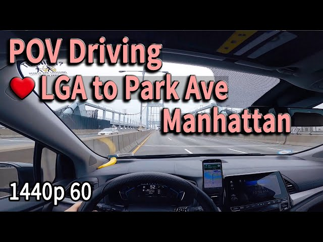 🍎,LGA Airport Driving to Manhattan, New York City, POV Driving²·⁷ᴷ⁶⁰
